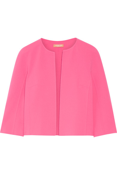 michael kors female 243279 michael kors collection cropped stretchwool jacket pink