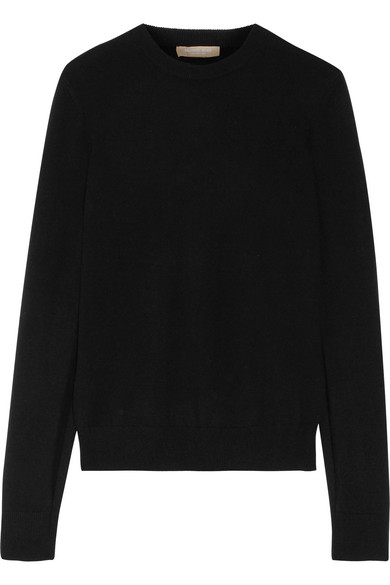 michael kors female 188971 michael kors collection splitcuff cashmere sweater black