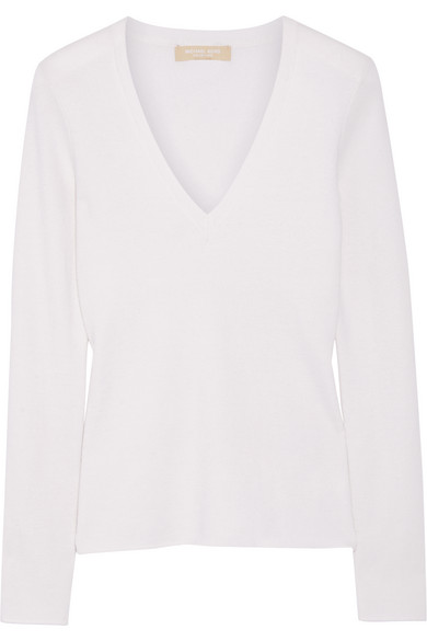 michael kors female 45883 michael kors collection cashmere sweater offwhite