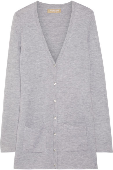 michael kors female 123868 michael kors collection cashmere cardigan gray