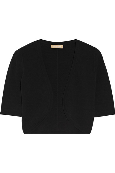 michael kors female 188971 michael kors collection cropped stretchknit cardigan black