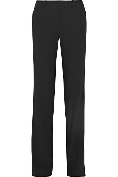 michael kors female 188971 michael kors collection straightleg wool pants black