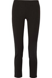 Stretch-twill straight-leg pants
