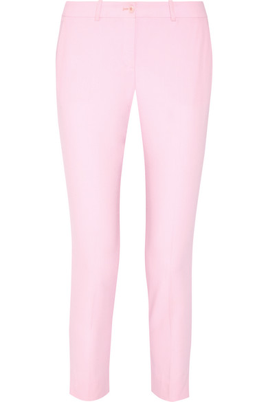 michael kors female 243279 michael kors collection samantha woolserge slimleg pants pastel pink
