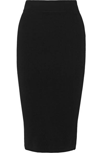 michael kors female 188971 michael kors collection stretchknit pencil skirt black