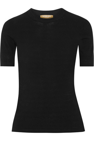 michael kors female 188971 michael kors collection stretchknit top black