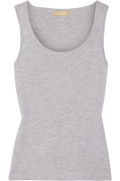 michael kors female 123868 michael kors collection melange cashmere tank gray