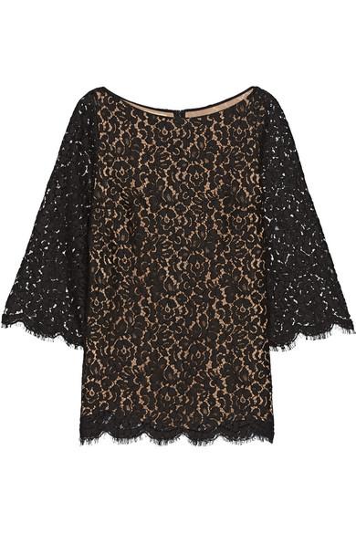 michael kors female 188971 michael kors collection corded cottonblend lace top black