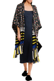 Missoni Fringed hooded cashmere-blend wrap