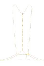 Triangle gold-plated body chain