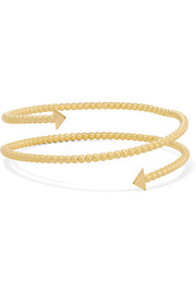 Sphered Arrow gold-plated arm cuff