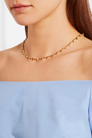 Triangle gold-plated necklace