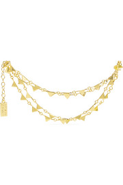Triangle gold-plated anklet