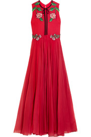 Gucci for NET-A-PORTER Appliquéd silk-blend organza gown