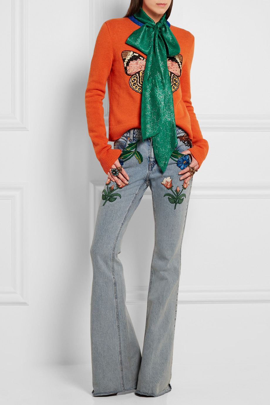 Gucci for NET-A-PORTER Embellished wool sweater