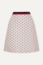 Gucci for NET-A-PORTER Jacquard mini skirt