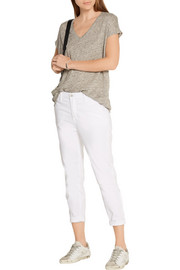 J Brand Josie stretch-cotton twill tapered pants