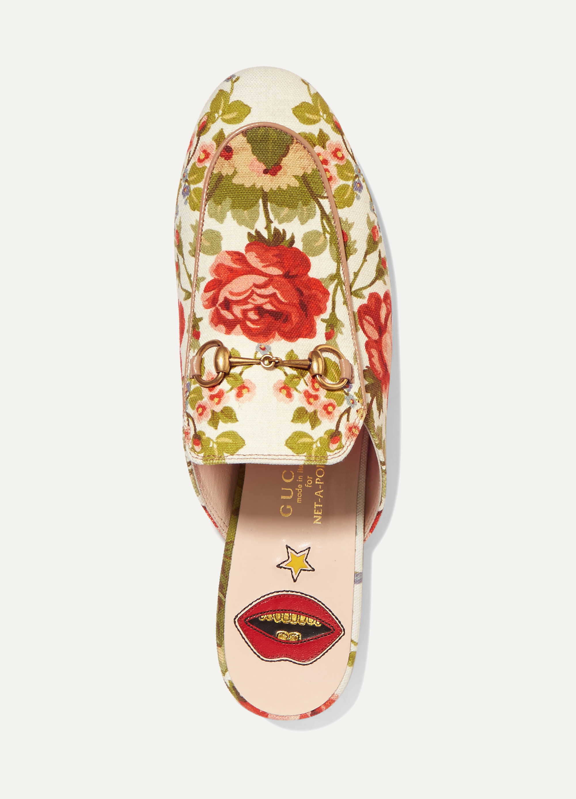 Gucci for NET-A-PORTER Princetown horsebit-detailed floral-print canvas slippers