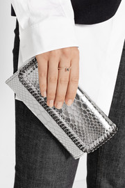 Stella McCartney Falabella metallic snake-effect faux leather wallet