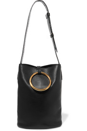 Bucket faux leather shoulder bag