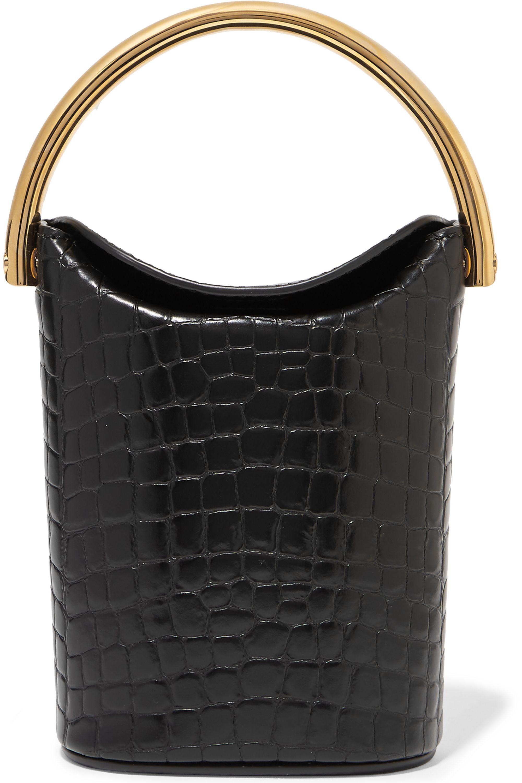 Stella McCartney Croc-effect faux leather bucket bag
