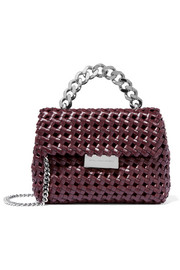 Becks woven faux leather shoulder bag