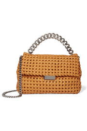 Stella McCartney Becks woven faux leather shoulder bag