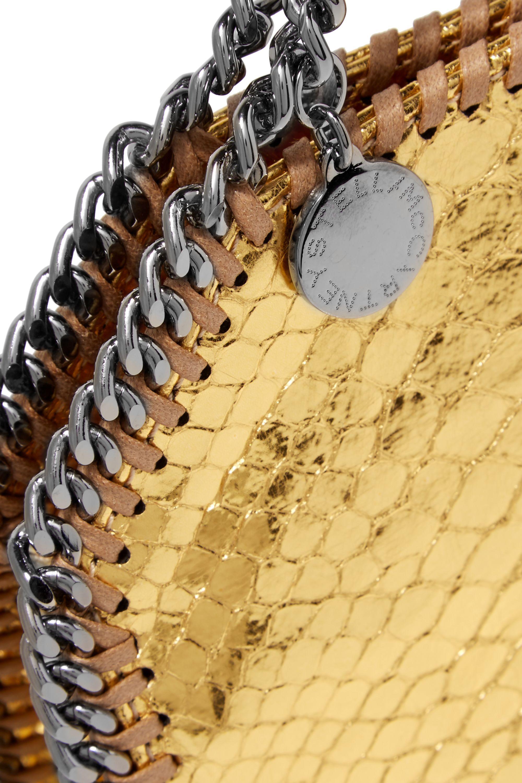 Stella McCartney The Falabella tiny metallic snake-effect faux leather shoulder bag