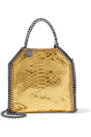 The Falabella tiny metallic snake-effect faux leather shoulder bag