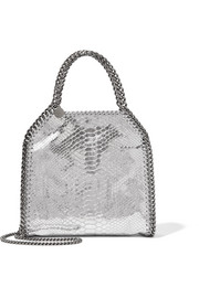 The Falabella mini metallic snake-effect faux leather shoulder bag