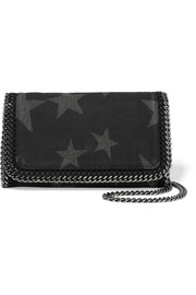 The Falabella star-print denim shoulder bag