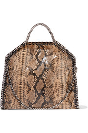 The Falabella snake-print faux leather shoulder bag