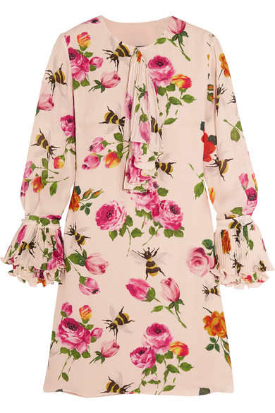 6ce073dcb5eaf8 Gucci. Ruffled printed silk crepe de chine mini dress