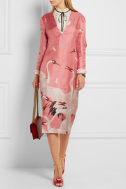 Gucci Printed silk-twill dress