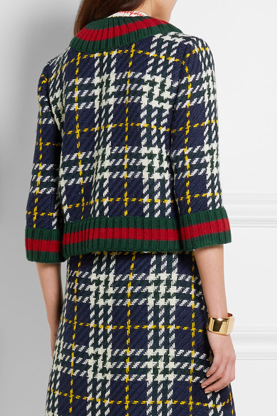 Gucci | Cropped plaid wool jacket | NET-A-PORTER.COM
