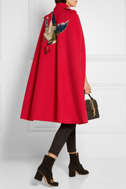 Gucci Appliquéd wool cape