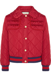 Gucci Quilted shell bomber jacket