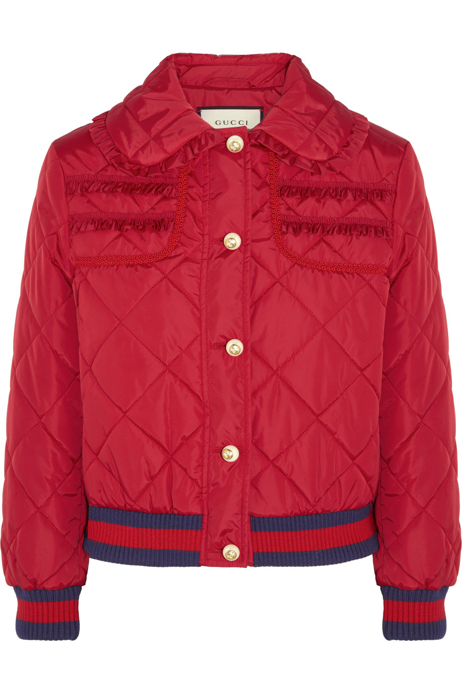 Gucci Quilted Shell Bomber Jacket, Size: 44