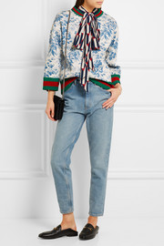 Gucci Printed bonded cotton-jersey sweatshirt