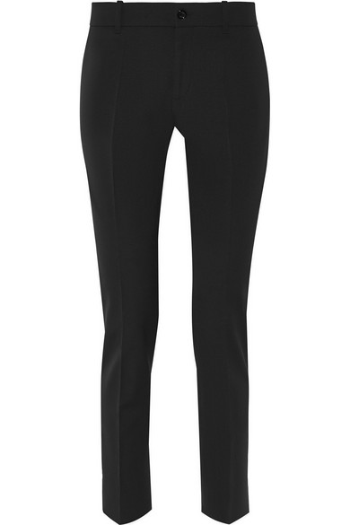 gucci female 188971 gucci stretch wool and silkblend tapered pants black