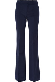 Gucci Stretch wool and silk-blend flared pants
