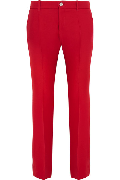 Gucci - Wool And Silk-blend Crepe Flared Pants