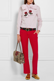 Gucci Wool and silk-blend crepe flared pants