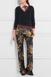 Gucci Silk-jacquard flared pants