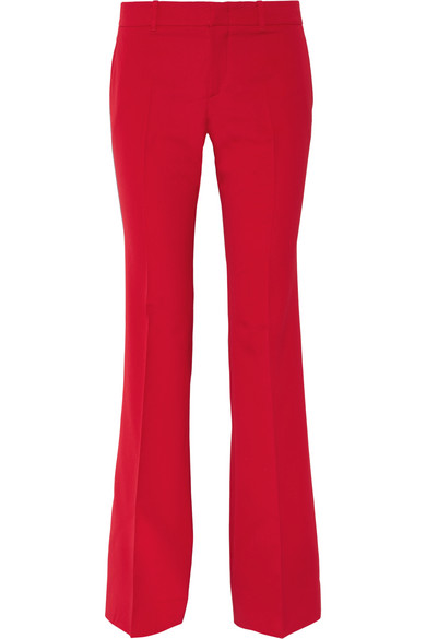 Gucci - Stretch Wool And Silk-blend Flared Pants