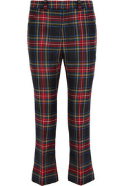 Gucci Tartan cropped wool flared pants