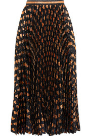 Gucci Pleated printed lamé skirt