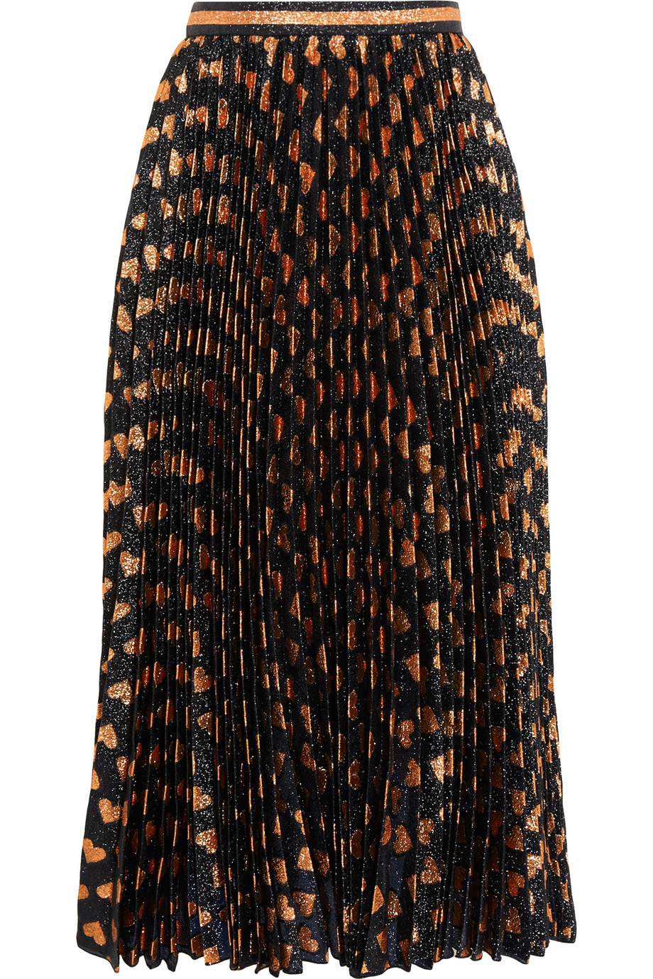 Gucci Pleated Printed Lamé Skirt, Size: 36