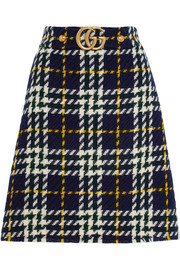 Gucci Plaid wool skirt
