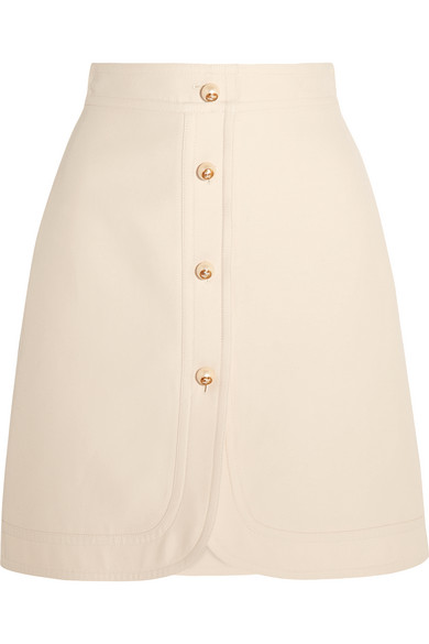 Gucci - Embellished Silk And Cotton-blend Mini Skirt - Ivory